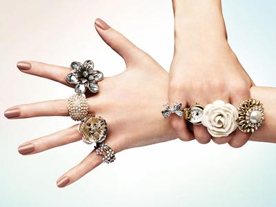 Модные кольца весна 2012